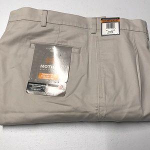 🆕 SAVANE Mens 42 x 30 Khaki Cotton Dress Pants